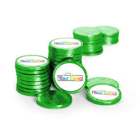 Business Promotional Add Your Logo Chocolate Coins (84 Pack)