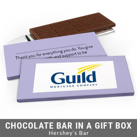 Deluxe Personalized Add Your Logo Business Chocolate Bar in Gift Box