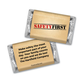 "Personalized Hershey's Miniatures - National Safety Month ""Safety First"""