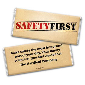Safety Stamp Personalized Candy Bar - Wrapper Only