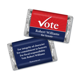 Personalized Hershey's Miniature Wrappers Only - Election Campaigns Vote Yes