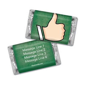 Personalized Hershey's Miniature Wrappers Only - Business Promotional Thumbs Up