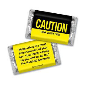 Personalized Hershey's Miniatures - Business Promotional Caution Think Safety First
