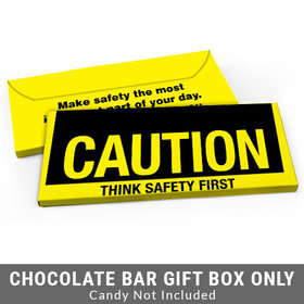 Deluxe Personalized Caution Business Candy Bar Favor Box