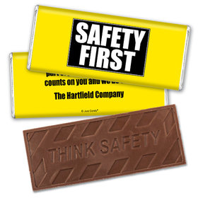 Personalized Embossed Think Safety Chocolate Bar Safety First Promotional