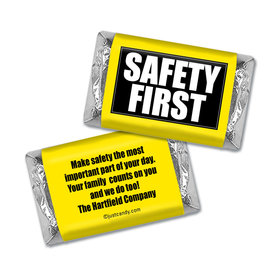 Personalized Hershey's Miniature Wrappers Only - Business Promotional Safety First