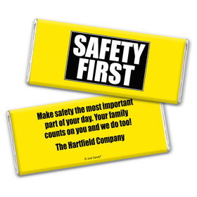 Safety First Personalized Candy Bar - Wrapper Only