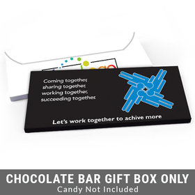 Deluxe Personalized Teamwork Puzzle Business Candy Bar Favor Box