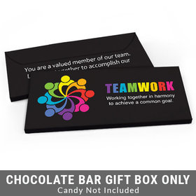 Deluxe Personalized All Hands In Teamwork Business Candy Bar Favor Box
