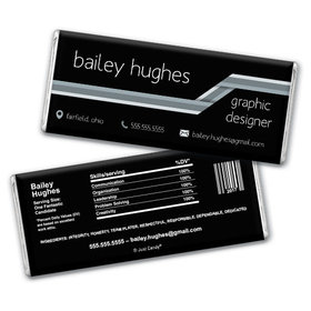 Personalized Resume Stripes Chocolate Bar & Wrapper