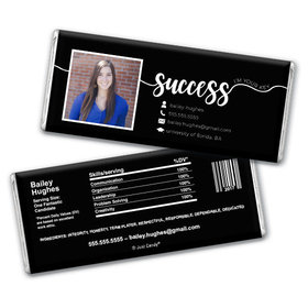 Personalized Resume Photo Chocolate Bar & Wrapper