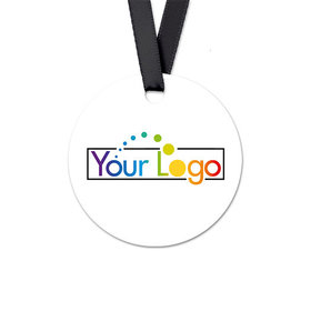 Personalized Add Your Logo Round Favor Gift Tags (20 Pack)