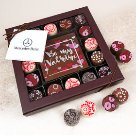 Personalized Valentine's Day Add Your Logo Gourmet Belgian Chocolate Truffle Gift Box (17 pieces)