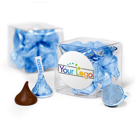 Personalized Add Your Logo Assembled Gift Box with Hershey's Kisses