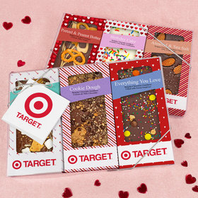 Personalized Add Your Logo Valentine's Day Gourmet Infused Belgian Chocolate Bars (6 pack)