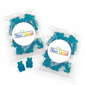 Personalized Business Add Your Logo Candy Bags with Gummi Bears