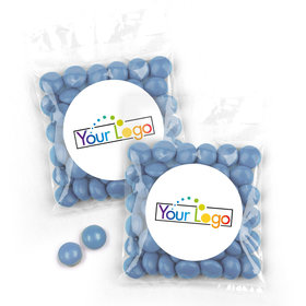 Personalized Business Add Your Logo Candy Bags with Just Candy Milk Chocolate Minis