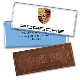 Personalized Business Promotional Add Your Logo Embossed Thank You Chocolate Bar