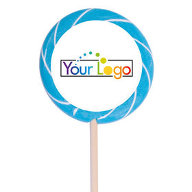 "Personalized Add Your Logo 3"" Large Swirly Pop (12 Pack)"