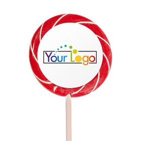 """Personalized Add Your Logo 3"""" Large Swirly Pop (12 Pack)"""