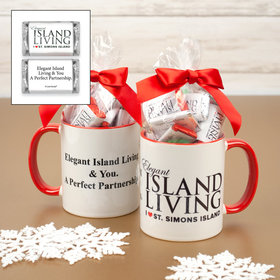 Personalized Christmas Add Your Logo 11oz Mug with Hershey's Miniatures