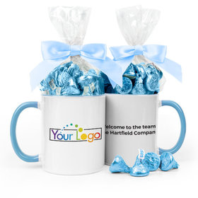 Personalized Add Your Logo 15oz Mug with Hershey's Kisses