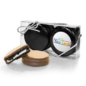 Personalized Add Your Logo 2PK Assembled Belgian Chocolate Covered Oreo Cookies