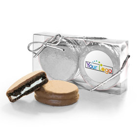 Personalized Add Your Logo 2PK Assembled Chocolate Covered Oreo Cookies