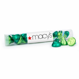 Personalized St. Patrick's Day Add Your Logo Gumball Tube with Hershey's Kisses