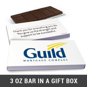 Deluxe Personalized Add Your Logo Belgian Chocolate Bar in Gift Box (3oz Bar)