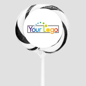 "Personalized Add Your Logo 3"" Large Whirly Pop (24 Pack)"