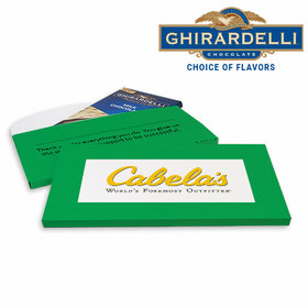 Deluxe Personalized Add Your Logo Business Ghirardelli Peppermint Bark Bar in Gift Box (3.5oz)
