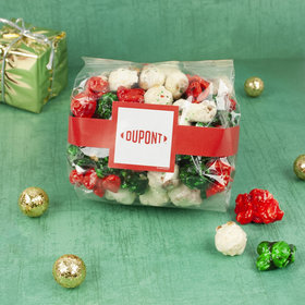 Personalized Add Your Logo Christmas Candy Coated Popcorn 3.5 oz Bags