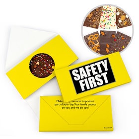 Personalized Safety First Business Gourmet Infused Belgian Chocolate Bars (3.5oz)