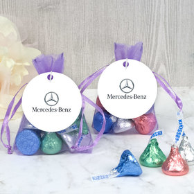 Personalized Add Your Logo Easter Hershey's Kisses in Organza Bags