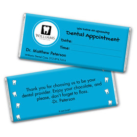 Personalized Chocolate Bar & Wrapper - Add Your Logo Dental Appointment
