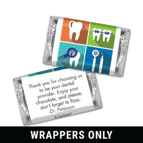 Personalized Mini Wrappers Only - Add Your Logo Dental Pop Art
