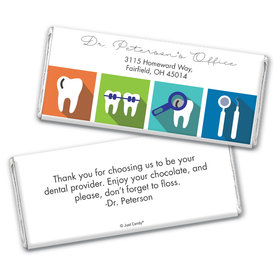 Personalized Chocolate Bar Wrappers Only - Add Your Logo Dental Pop Art