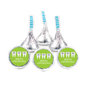 "Personalized Orthodontic Braces 3/4"" Stickers for Hershey's Kisses (108 Stickers)"