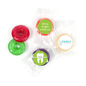 Personalized Orthodontic Dental Brackets Life Savers 5 Flavor Hard Candy