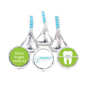 "Personalized Orthodontic Dental Brackets 3/4"" Stickers for Hershey's Kisses (108 Stickers)"