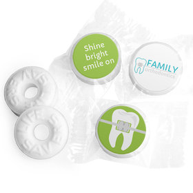 Personalized Orthodontic Dental Brackets Life Savers Mints