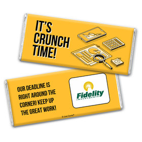 Personalized Logo It's Crunch Time Chocolate Bar
