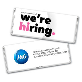 Personalized Chocolate Bar & Wrapper - We're Hiring