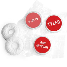 Bar Mitzvah Personalized Life Savers Mints Block Name