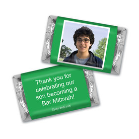 Bar Mitzvah Personalized Hershey's MINIATURES Photo & Message
