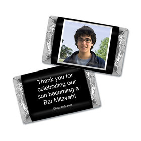 Bar Mitzvah Personalized Hershey's MINIATURES Wrappers Photo & Message