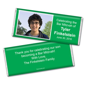 Bar Mitzvah Personalized Chocolate Bar Photo & Message
