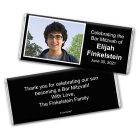 Bar Mitzvah Snapshot Personalized Candy Bar - Wrapper Only