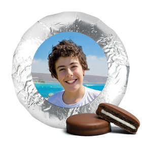 Bar Mitzvah Cute Pic Belgian Chocolate Covered Oreo Cookies Assembled (24 Pack)